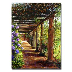 David Lloyd Glover 'Pergola Walkway' Gallery-Wrapped Canvas Art