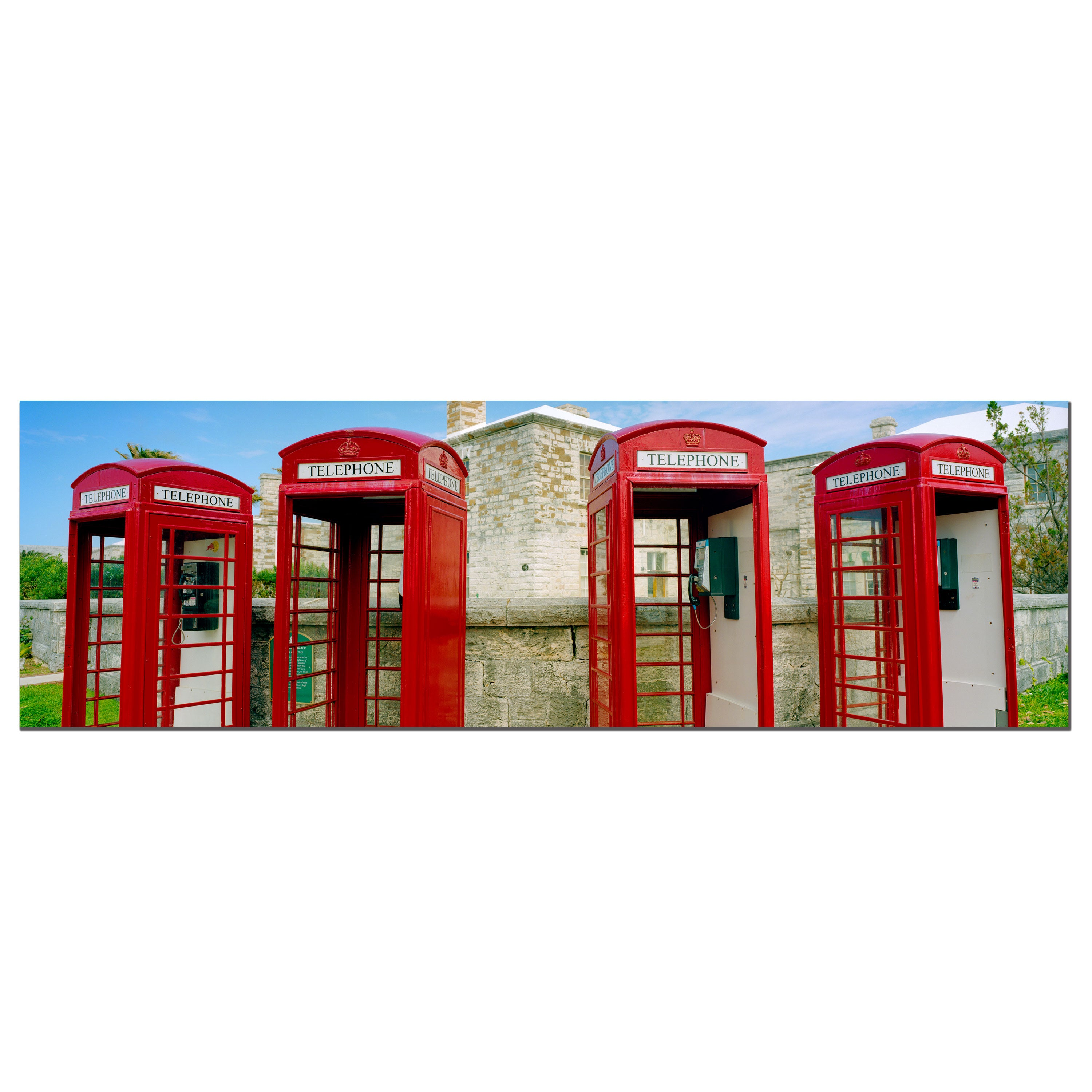 Preston 'Bermuda Telephone' Canvas Art