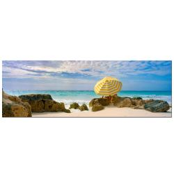 Preston, 'Bermuda Umbrella' Canvas Art