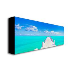 Preston 'Turks Pier' Canvas Art
