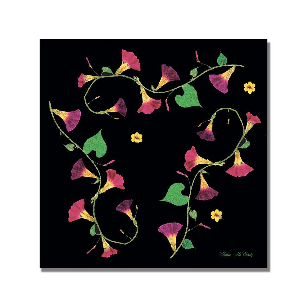 Kathie McCurdy, 'Morning Glories' Canvas Art