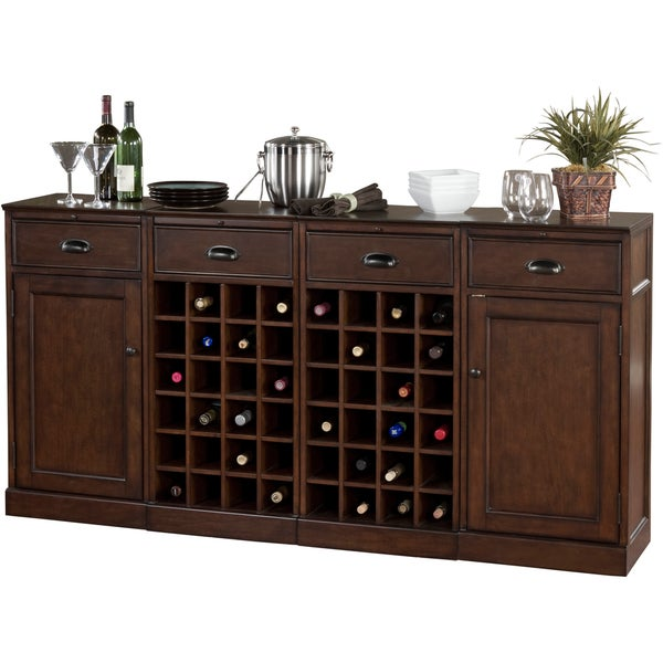 Canton 4-piece Modular Bar/ Wine Storage Set