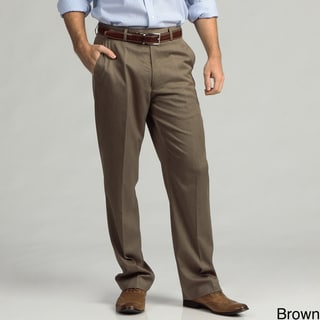 Francesco Bianchi Men's Sharkskin Flat Front Dress Pants