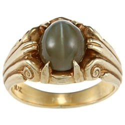 14K Yellow Gold Cats Eye Estate Ring
