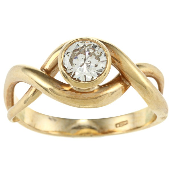 18k Yellow Gold 3/5ct TDW Engagement Ring (J-K, I1-I2)