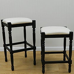 Belmont Antique Black/ Duck Cloth Bar Stool (24-inch)