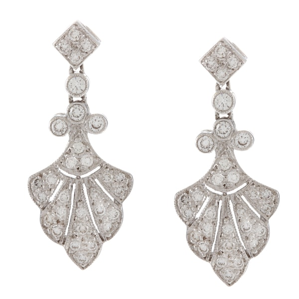 18k White Gold 1/2ct TDW Estate Earrings (G-H, SI1-SI2)
