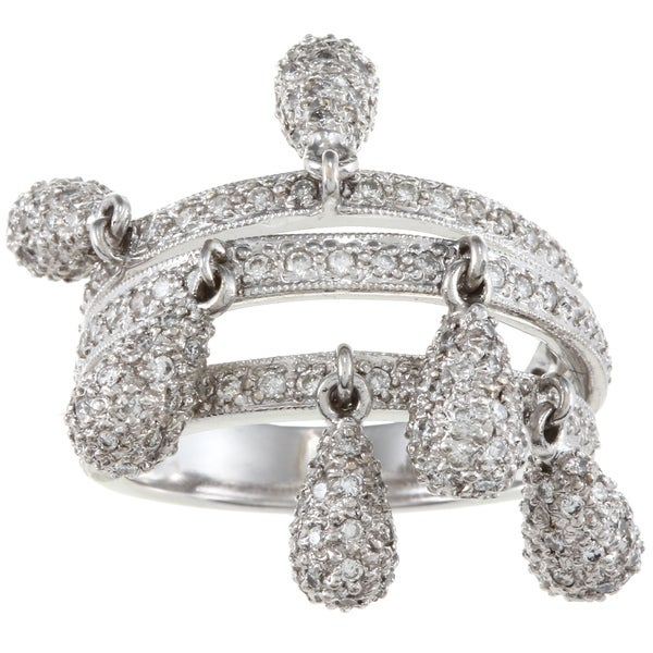 18k White Gold 2ct TDW Charm Ring (J-K, SI1-SI2)
