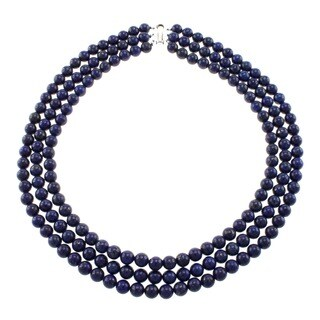 Pearlz Ocean Lapis Lazuli Triple Strand Necklace