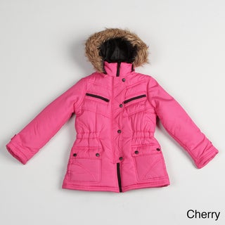 Girl's Faux-fur Hooded Jacket FINAL SALE