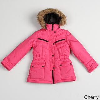 Girls Faux-fur Hooded Jacket