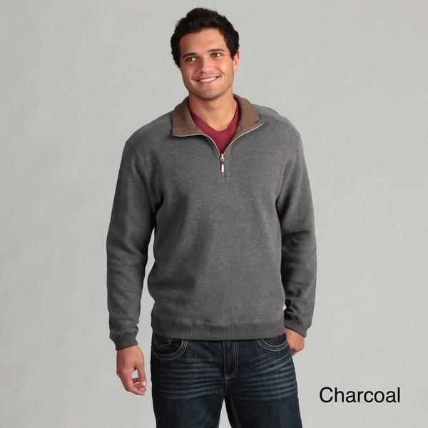 Caribbean Joe Men's 1/4-zip Knit Sweater