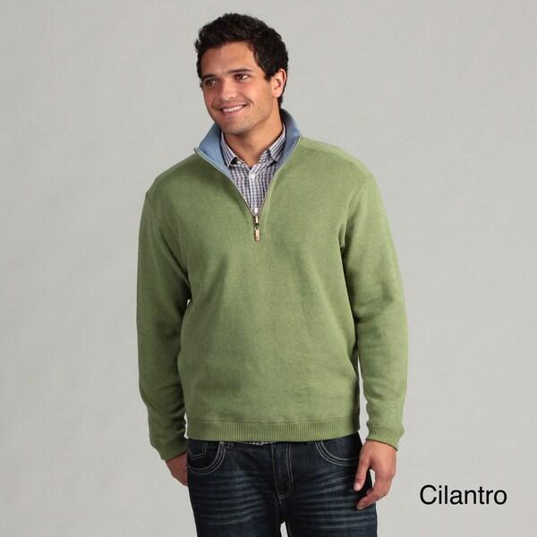 Caribbean Joe Men's Knit 1/4-zip Sweater FINAL SALE