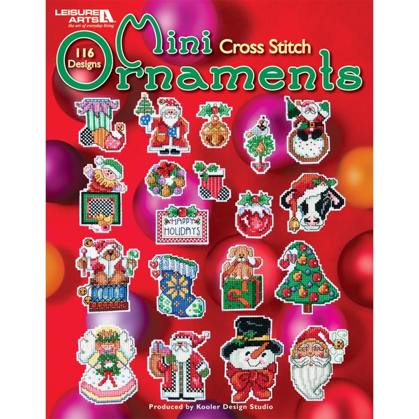Leisure Arts-Mini Ornaments To Cross Stitch