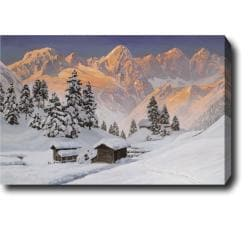 'Snow Mountain' Oil Canvas Art