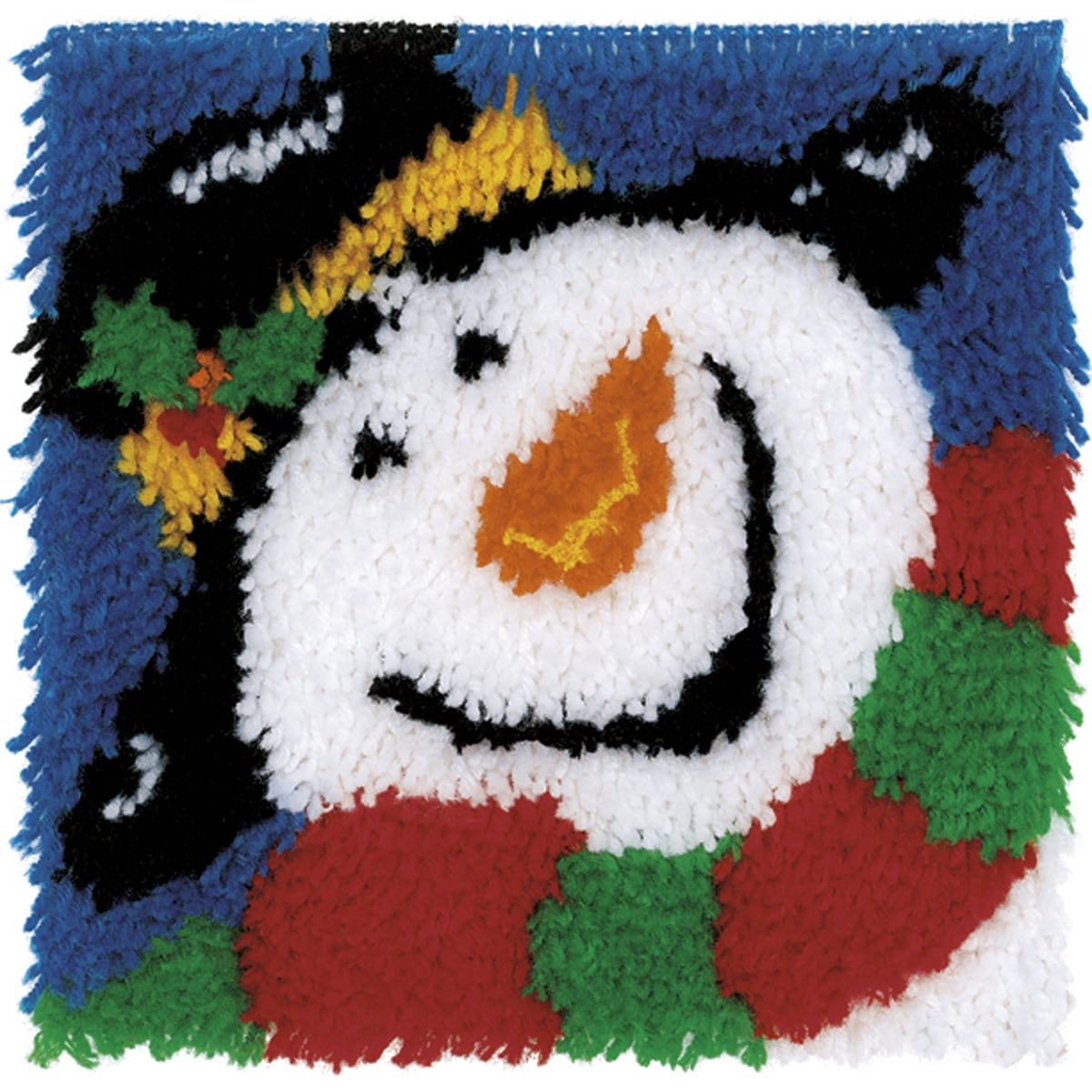 "Wonderart Latch Hook Kit 12""X12""-Happy Snowman"