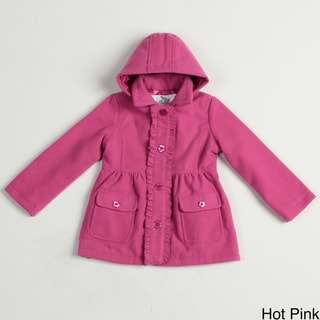 Girl's Ruffle Detachable Hood Coat