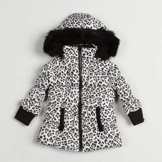 Girl's Black/ White Leopard Jacket