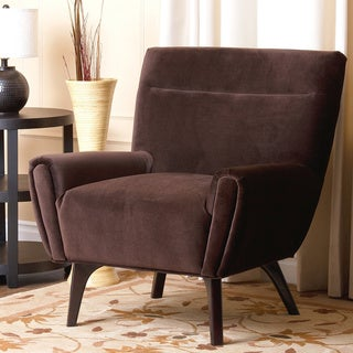 Abbyson Living Malibu Dark Brown Microsuede Armchair