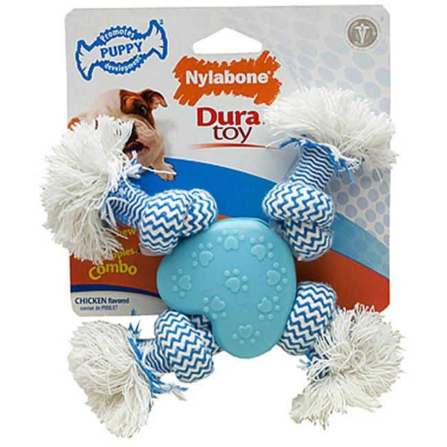 Nylabone Puppy Rope 'N Heart Dog Toy