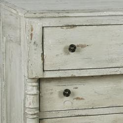 Distressed Vintage White Accent Chest