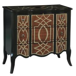 Hand-painted Distressed Black Accent Chest