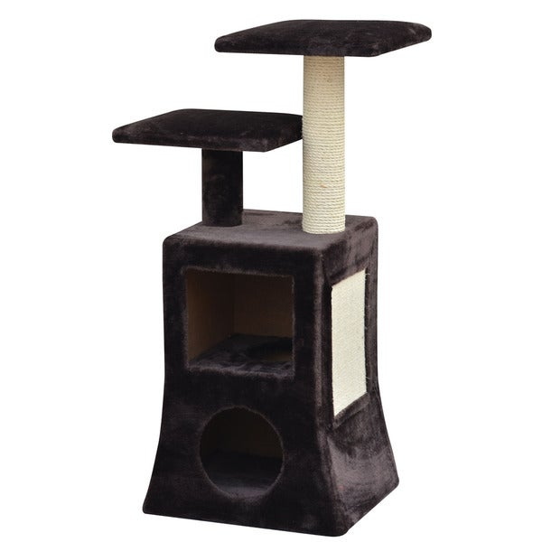 PetPals Abstract Design Multi Platform Cat Tree, Includes 2 Condos and Sisal Posts