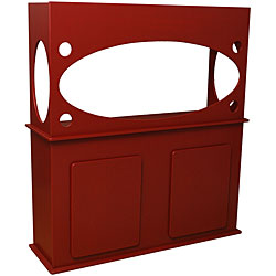 Window View Red 75-gallon Aquarium Stand