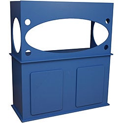 Window View Marine Blue Aquarium Stand