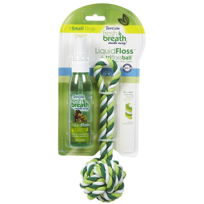 Tropiclean Fresh Breath Oral Care Kit for Small Dogs and Cats