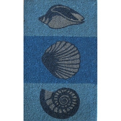 Cocoa Matting 'Sea Shell' Blue Door Mat (18 x 30)