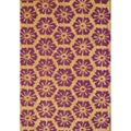 Cocoa Matting 'Purple Burst' Tan Door Mat (16 x 24)