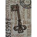 Cocoa Matting 'Key' Grey Door Mat (16 x 24)