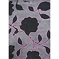 Alliyah Hand-made Lavender Grey New Zealand Wool Rug (8' x 10')