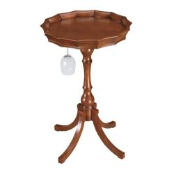 Cherry Finish Wine Accent Table