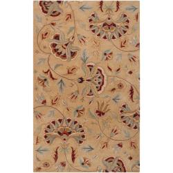 Hand-tufted Brown Sandy Dunes Wool Rug (8' x 11')