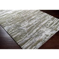 Hand-tufted Green Caparo Street Abstract Wool Rug (5' x 8')