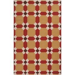 Hand-woven Queens Bay Wool Rug (8' x 11')
