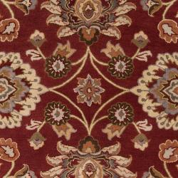 Hand-Tufted Red Kiser Wool Area Rug (7'6 x 9'6)