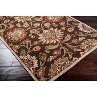 Hand-tufted Brown Kiser Wool Rug (9' x 12')