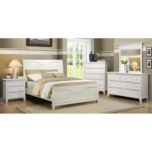 TRIBECCA HOME Alderson Cottage White 5-piece Queen-size Bedroom Set
