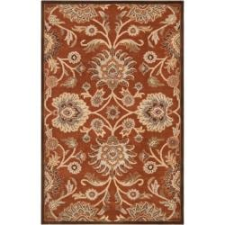 Hand-tufted Red Kiser Wool Rug (9' x 12')