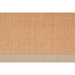 Woven Beige Hillsborough West Casual Natural-Fiber Sisal Rug (4' x 6')
