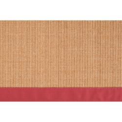 Woven Beige Hillsborough West Natural Fiber Sisal Rug (6' x 9')