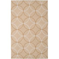 Hand-tufted Tan Hillsborough East Moroccan Tile Rug (9' x 13')