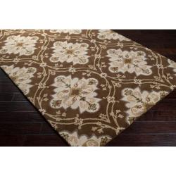 Hand-tufted Green Roxborough Wool Rug (6' x 9')