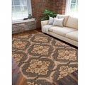 Hand-Tufted Green Roxborough Wool Area Rug (8' x 11')