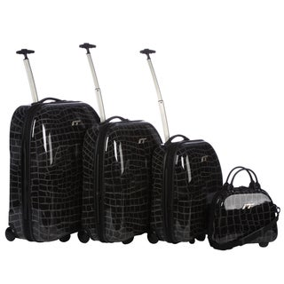 IT Croc 2-wheel 4-piece Hardside Luggage Set