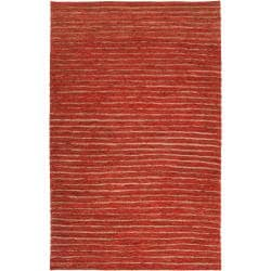 Hand-woven Red Doctra Natural Fiber Hemp Rug (3'3 x 5'3)
