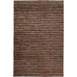 Hand-woven Black Doctra Natural Fiber Hemp Rug (3'3 x 5'3)